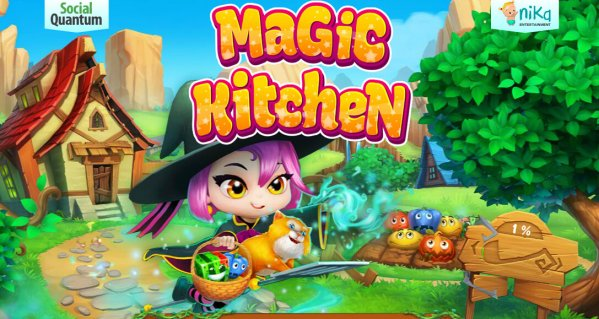 Cleaning up the Magic Kitchen (Match 3 game for Android)