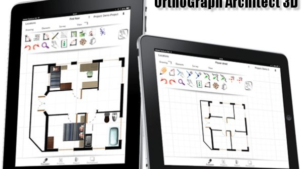 The most advanced AEC CAD iPad App – OrthoGraph Architect 3D